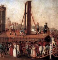 Казнь королевы на площади Согласия.