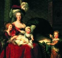 Мария Антуанетта с детьми. Версаль.